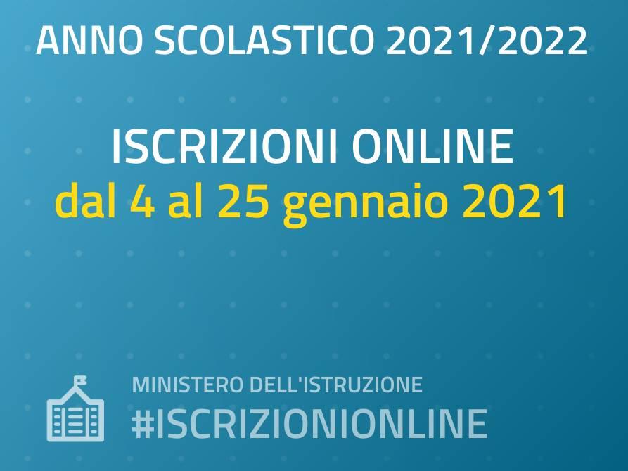 Iscrizioni A.S. 2021/2022